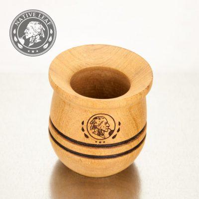 Engraved Algarrobo Yerba Mate Wooden Gourd Cup