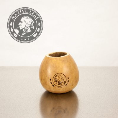 Engraved Calabash Yerba Mate Gourd Cup