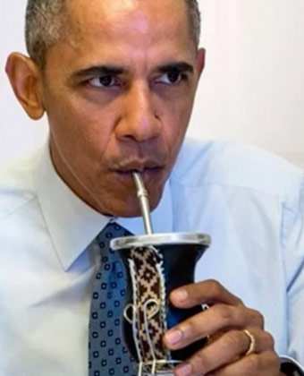 Barack Obama Drinking Yerba Mate