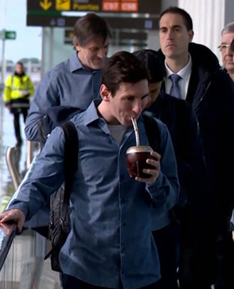 Lionel Messi Drinking Yerba Mate